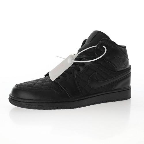 "Air Jordan 1 Mid SE""Black Quilted"" 纯黑小香菱格纹 DB6078-001"
