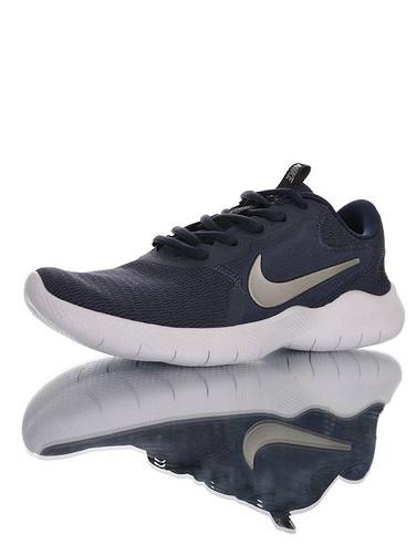 Nike Flex Experience RN 9 天猫长青基础款 耐克9代弹性实验系列轻量减震休闲慢跑鞋 深蓝银白配色 CD0225-401