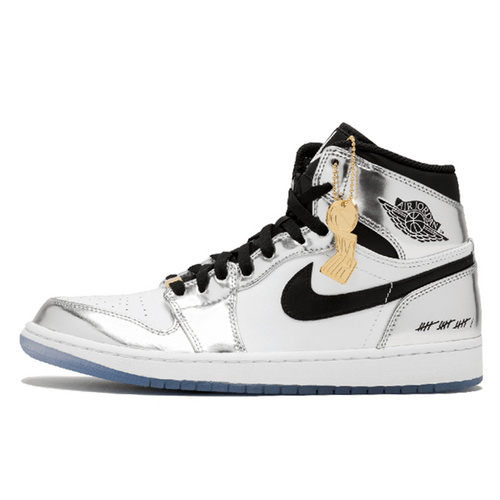 Air Jordan 1 Retro Think 16 'Kawhi Leonard' 裕三厂虎扑高几伦纳德液态电镀银配色 AQ7476-016