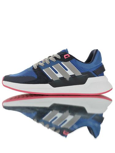 Adidas Neo Cloudfoam Comfort Run90s 2019阿迪达斯生活系列 网面透气轻量发泡底休闲运动慢跑鞋 宝蓝黑灰白浅粉配色