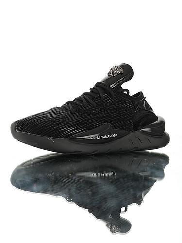 Adidas Y-3 Kaiwa Chunky Primeknit YohjiYamamoto三本耀司 凯瓦系列复古老爹鞋 正确多层组合大底 范思哲头像 黑水拉纹配色