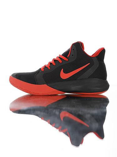 Nike Precision III Black University Red全新入门级球鞋 耐克精密三代系列休闲运动文化篮球鞋 黑大学红配色