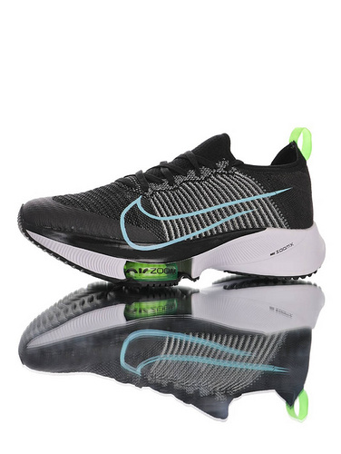 Air Zoom Tempo NEXT% 突破极致表现 2020全新耐克 竞速马拉松气垫轻量超跑竞速运动慢跑鞋 黑灰白浅蓝能量绿配色 CZ1514-002