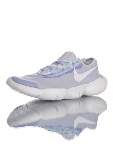 Free RN 5.0 2020 舒服就完事了 耐克赤足系列超轻量休闲运动透气慢跑鞋 浅蓝玉白配色 CJ0270-401