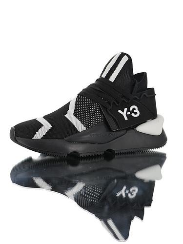 Adidas Y-3 Kusari II Leather YohjiYamamoto三本耀司 库萨日系列复古老爹鞋 RB厚重大底制 全头层皮鞋面 超软皮内脚垫 黑斑马配色