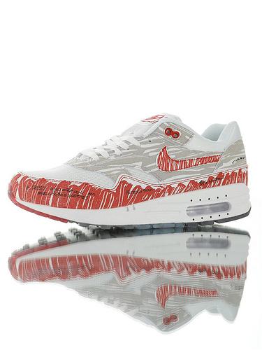 "Nike Air Max 1 Tinker ""Sketch To Shelf"" 重新定义二次 百搭复古气垫休闲运动慢跑鞋 手搞白红配色"
