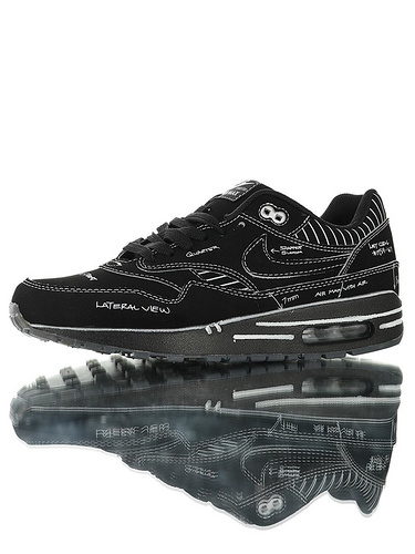 "Nike Air Max 1 Tinker ""Sketch To Shelf"" 重新定义二次 百搭复古气垫休闲运动慢跑鞋 手搞黑白配色"