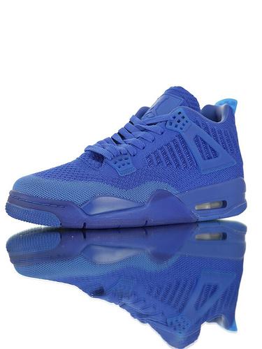 """Air Jordan 4 Flyknit""""Hyper Royal"""" 30周年纪念版本糖果色限定 具开发打造 针织透气中帮复古休闲运动文化篮球鞋 皇家蓝配色"""
