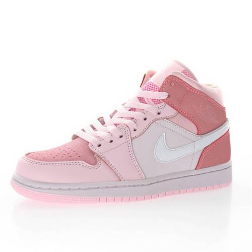 "Air Jordan 1 Mid WMNS""Digital Pink"" 女神数码粉樱花粉 CW5379-600"