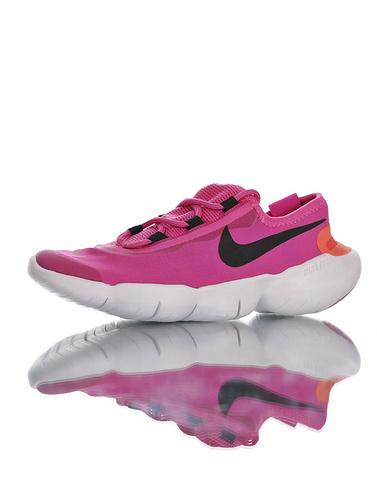 Free RN 5.0 2020 舒服就完事了 耐克赤足系列超轻量休闲运动透气慢跑鞋 深紫粉黑橘白配色 CJ0270-601