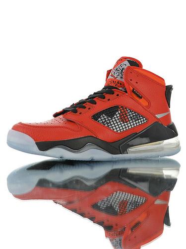 """Jordan Mars 270 """"Paris Saint-Germain"""" 后掌回弹气垫大底 火星之子混合鞋面高帮休闲运动篮球鞋 荔枝纹皮革大红银黑冰蓝配色"""