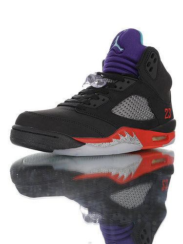 """Air Jordan Retro 5 OG """"Top 3"""" 质感出众 乔丹5代中帮复古休闲文化篮球鞋 黑紫葡萄黑银配色 CZ1786-001"""