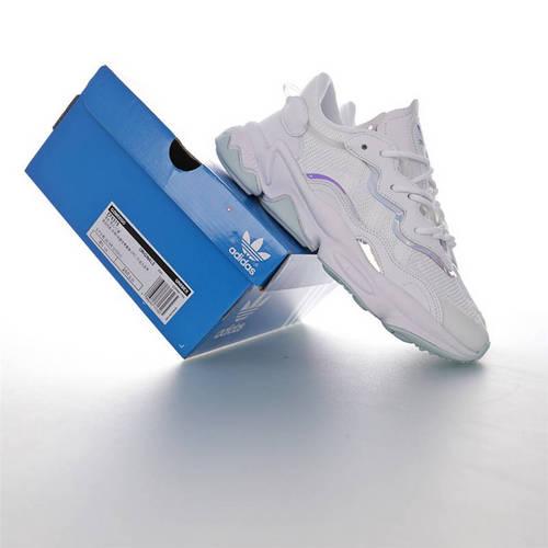 Adidas Ozweego adiPRENE 杨幂代言款 全新复古鞋型 阿迪达斯缓震复古老爹休闲运动慢跑鞋 网眼白皮薄荷宝蓝PVC炫彩3M配色 EF6315