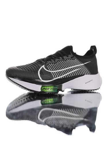Air Zoom Tempo NEXT% 突破极致表现 2020全新耐克 竞速马拉松气垫轻量超跑竞速运动慢跑鞋 黑灰白能量绿配色 CZ1514-001