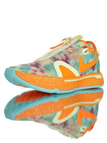 Nike PG4 保罗乔治4代系列 全掌Air Strobel气垫+XDR耐磨外底 全明星佳得乐撞色晕染配色 CD5086-700