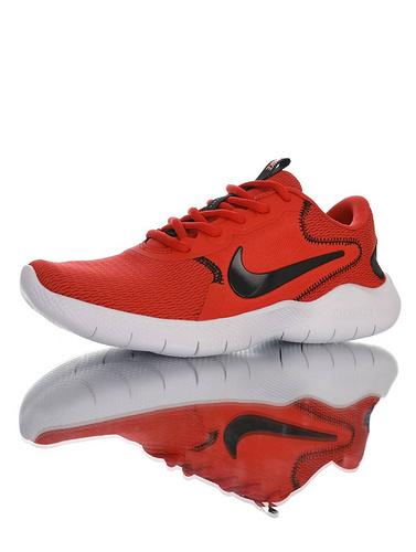 Nike Flex Experience RN 9 天猫长青基础款 耐克9代弹性实验系列轻量减震休闲慢跑鞋 大红黑白配色 CD0225-600