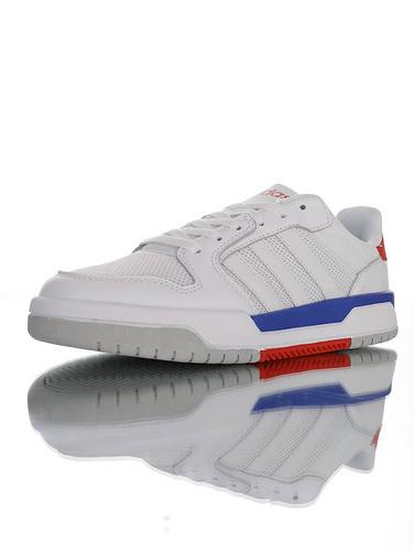 Adidas Neo Entrap 2020ss春夏新品 阿迪达斯生活 追赶系列轻便休闲运动百搭板鞋 网布白宝蓝红配色 FX3978