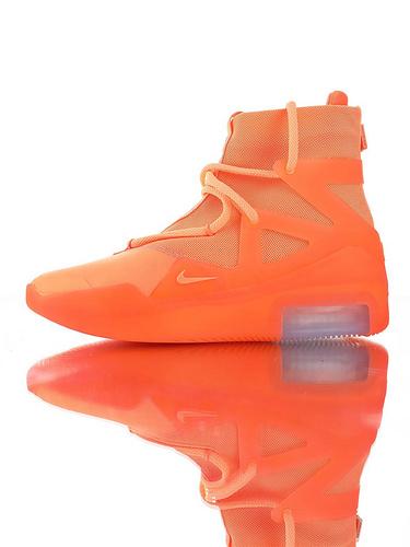 【40---48】Fear of God x Nike Fear of God 1 2019神级之鞋 恐惧之神联名 高丝光牛津网布 韩国进口拉链扣 充正混卖级别 搭载真纤维柱 亮橙配色
