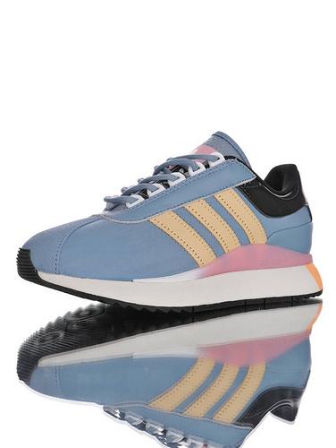 SL ANDRIDGE W 阿迪达斯 安德里奇系列复古休闲运动慢跑鞋 浅蓝橘粉黑白配色 EF5548
