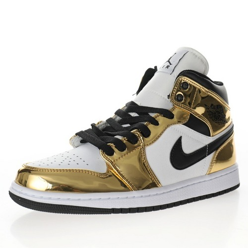 "Air Jordan 1 Mid""Metallic Gold"" 液态金小伦纳德 DC1419-700"