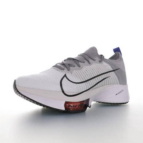 Nike Air Zoom Tempo NEXT% 突破极致表现 2020全新耐克 竞速马拉松气垫轻量超跑竞速运动慢跑鞋 白浅灰黑宝蓝配色 CJ2102-002