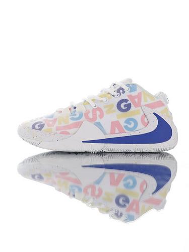 Nike Zoom Freak 1 扬尼斯·安特托昆博签名款 字母哥一代系列 后掌真双层Zoom气垫 内靴锁定系统#独特抓地纹路大底 气垫低帮运动篮球鞋 白彩色字母宝蓝配色