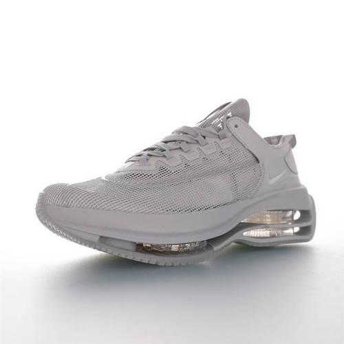 Nike WMNS Zoom Double Stacked 2020全新耐克 双层8块堆叠气垫前卫超跑竞速运动慢跑鞋 半透明纯灰配色 CI0804-100