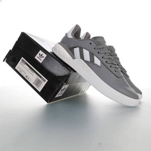 Adidas Originals Skateboarding 3ST.004 Suede 阿迪达斯爆米花缓震低帮休闲运动专业滑板板鞋 皮革深灰白配色 DB3156