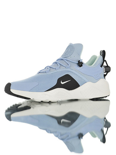 Nike Women's Air Huarache City MoveBlack/Black 华莱士城市移动系列套脚休闲运动百搭慢跑鞋 天蓝黑白配色