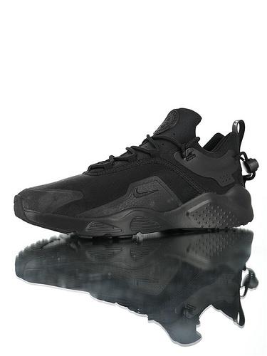 Nike Women's Air Huarache City MoveBlack 华莱士城市移动系列套脚休闲运动百搭慢跑鞋 全黑武士配色