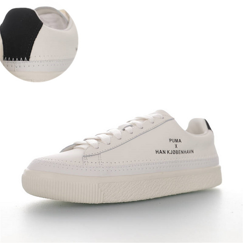 Han Kjobenhavn x Puma Clyde Stitched 丹麦高街品牌联名 克莱德金标系列复古百搭板鞋 米白黑尾配色 364474-05
