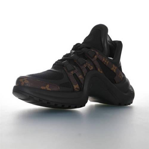 Louis Vuitton Archlight Sneakers Ins炸款米兰走秀风 路易威登减震运动弓型舞蹈老爹运动鞋 黑棕老花配色 1A43LD