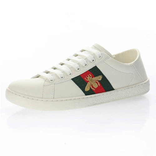 G家 Ace Embroidered Low-Top 踩跟米白绿红小蜜蜂 473762 A9L60 9067