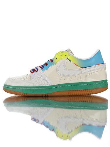 Nike Court Force Low Premium 25周年纪念限定 全新原模具开发 正确多材质品质还原细节 耐克网球空军系列低帮复古运动板鞋 牙买加黄绿焦黄底配色