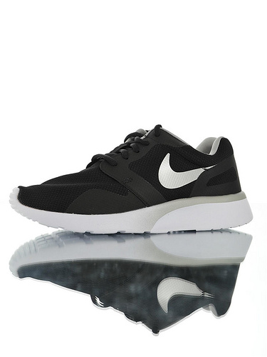 Nike Wmns Kaishi NS 原装透气双层呼吸面料 具开发打造 原比值轻量EVA发泡大底 耐克经典开始小跑三代休闲百搭跑步鞋 黑白银灰配色