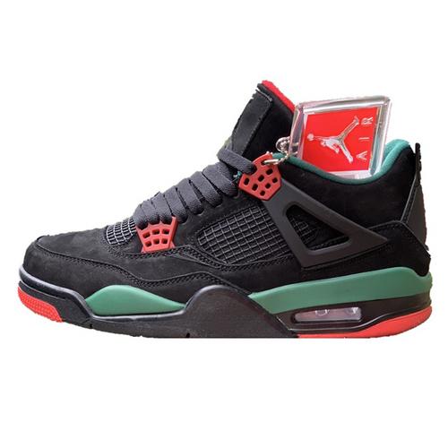 G家  x Air Jordan 4 联名款 G驰黑绿配色 AQ3816-063