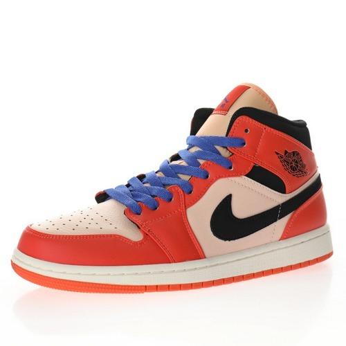 "Air Jordan 1 Mid""Team Orange Black"" 尼克斯白橘小白扣碎 852542-800"