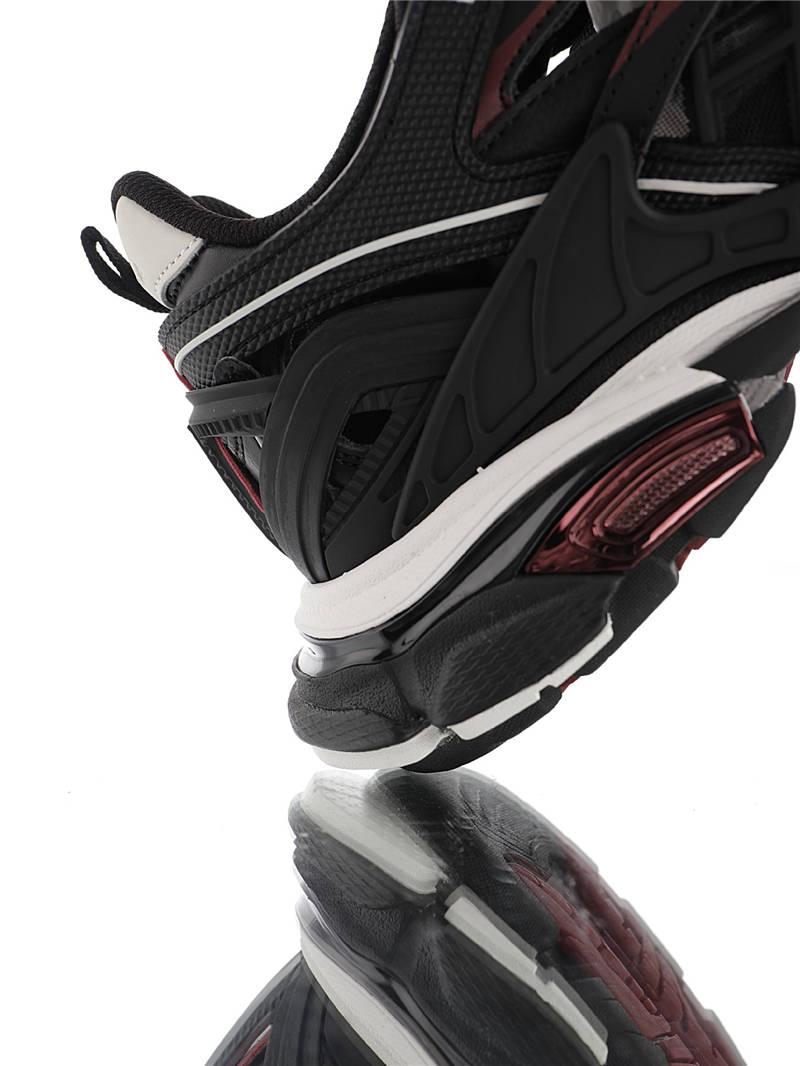 Balenciaga Track 2 Sneakers 具打造 全新版面采用176块独立部件组合 原装全掌升级乳胶鞋垫 东莞代工原底部 轨道2代老爹鞋 镂空黑红白配色