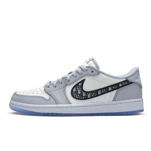 "Dior x Air Jordan 1 Low ""Grey"" 高奢迪奥联名款 冰蓝迪奥配色 CN8608-002"