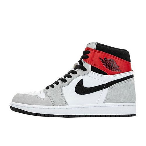"Air Jordan 1 High OG ""Light Smoke Grey"" 烟灰黑红配色 555088-126"