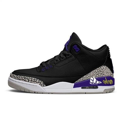 "Air Jordan 3  ""Court Purple"" 黑紫爆裂纹 CT8532-050"