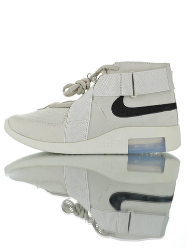 "FOG-Fear of God x Nike Air Fear Of God 180恐惧之神联名 最强""三合一""原装渠道丝光磨砂头层 交叉魔术粘设计中筒短靴运动鞋 米灰黑配色"