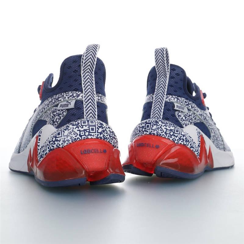Puma LQD Cell Origin AR 创新未来与你同行 AR版 彪马AR细胞来源系列网面综合训练休闲运动慢跑鞋 深蓝白红二维码配色 192924-04
