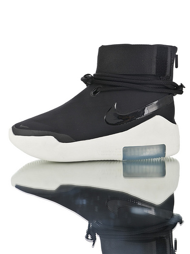 Fear of God x Nike Air FOG Shoot Around Triple Black实体混卖品质 恐惧之神联名 简版高街气垫前卫潮鞋 黑3M配色
