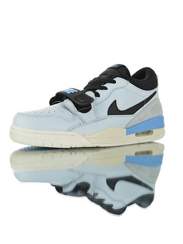 """Jordan Legacy 312 Low""""Pale Blue"""" 具开发打造完美鞋型 正确皮料无色差 乔丹混合版本低帮休闲运动篮球鞋 天空蓝配色"""