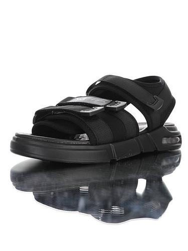 古驰拖鞋货源Y-3 Air KAOHE Sandals 三本耀司创意改良打造 广东硬质高端礼盒 超轻PU鞋底  气垫魔术贴轻量休闲运动沙滩凉鞋鞋 黑白配色 190603