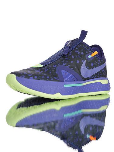 Nike PG4 保罗乔治4代系列 全掌Air Strobel气垫+XDR耐磨外底 佳得乐蓝水滴配色 CD5086-500