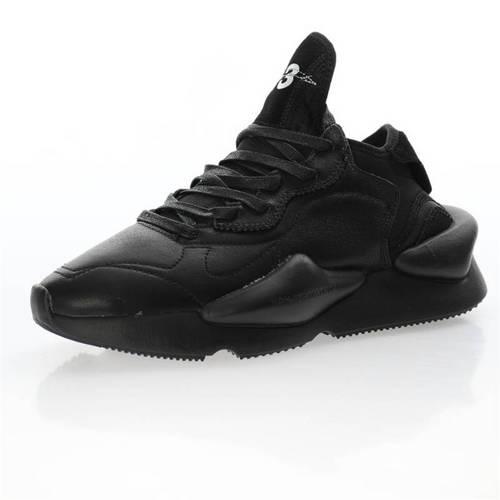 Y-3 Kaiwa Chunky Sneakers 三本耀司 凯瓦系列复古百搭轻量休闲运动老爹慢跑鞋 全皮武士黑白LOGO配色 EF2561