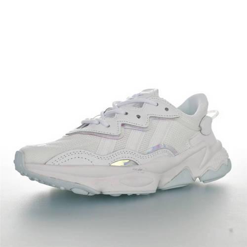 Ozweego adiPRENE 杨幂代言款 全新复古鞋型 阿迪达斯缓震复古老爹休闲运动慢跑鞋 网布白镭射PVC配色 EF6315