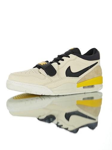 """Jordan Legacy 312 Low""""Pale Yellow"""" 具开发打造完美鞋型 正确皮料无色差 乔丹混合版本低帮休闲运动篮球鞋 香草黄黑米配色"""